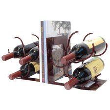 <strong>Metrotex Designs</strong> Bookends 3 Bottle Tabletop Wine Rack (Set of 2)