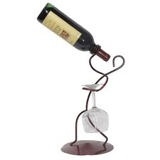 Iron Borracho Stem and Tabletop Wine Rack