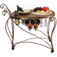 Bird of Paradise Serving Cart