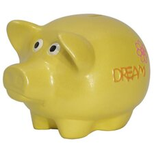 Girly Chic Double Sided Wish, Dream Piggy Bank