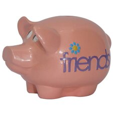 Girly Chic Double Sided Inseparable Friends Piggy Bank