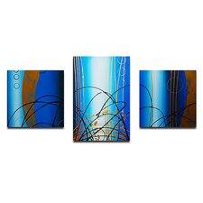 Bubbling Up 3 Piece Painting Print on Canvas Set