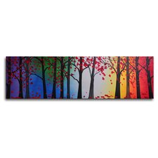"Hand Painted ""Trees Hold Hands"" Canvas Wall Art - 12"" x 40"""