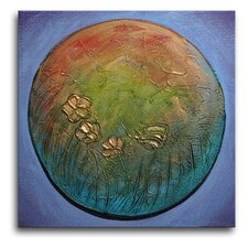 Planet Earth Original Painting on Canvas