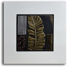 "Handmade ""Embossed Banana Frond"" Leather Wall Art"
