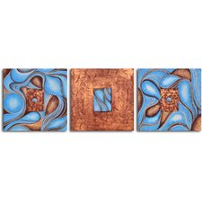 "Hand Painted ""Chocolate Box"" 3 Piece Oil Canvas Art Set"