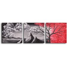 Bloody Rain 3 Piece Original Painting on Canvas Set