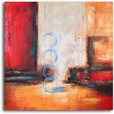 Semaphore on Rainy Night Original Painting on Canvas