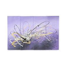 Flight of the Hummingbird 4 Piece Original Painting on Canvas Set