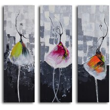 'Tutu Trio' 3 Piece Original Painting on Canvas Set