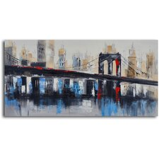 'Bridge to Downtown' Original Painting on Canvas