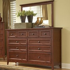 <strong>Mastercraft Collections</strong> Simply Shaker 10 Drawer Dresser