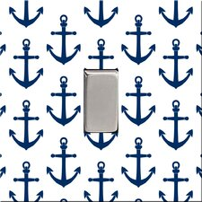 Navy Anchors Switch Cover