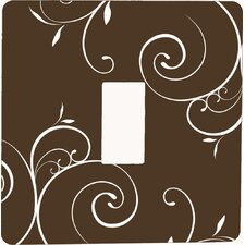 Swirls Switch Cover in Brown