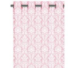 Cotton Grommet Voile Damask Curtain Single Panel