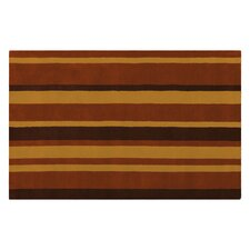 Kerins Toffee / Chocolate Striped Rug