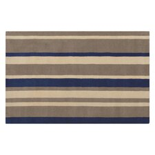 Kerins Navy / Beige Striped Rug