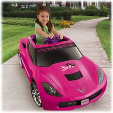 Power Wheels Barbie Corvette 12V Battery Powered Car