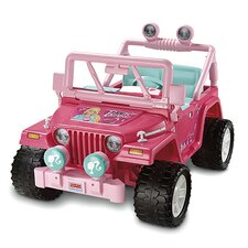 Power Wheels Wrangler Barbie Jammin' 12V Battery Powered Jeep