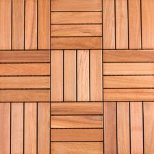 <strong>Flex Deck</strong> SAMPLE - Wood Deck Tiles in Copacabana Ipe Champagne