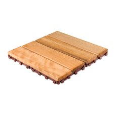 "Brazilian Hardwood 11.6"" x 11.6"" Interlocking Deck Tiles in Copacabana Itauba"