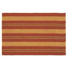 Fiesta Newport Red Striped Indoor/Outdoor Area Rug