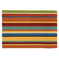 Cabana Orange Stripe Area Rug