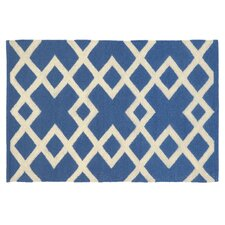 Crisscross Capri Blue Rug