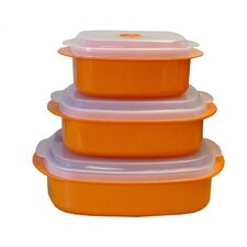 Calypso Basics Microwave Steamer Set in Orange