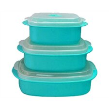 Calypso Basics Microwave Steamer Set in Turquoise