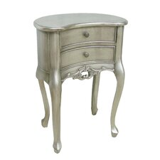 Dauphine 2 Drawer Curved Bedside Table