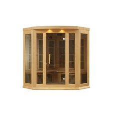 3 Person Far Infrared Carbon Corner Hemlock Sauna