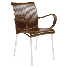 <strong>Nardi</strong> Dama Stackable Arm Chair (Set of 2)