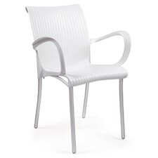 Dama Stackable Arm Chair (Set of 2)