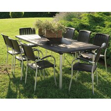 Maestrale 220cm Table Set in Coffee