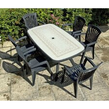 Toscana 165cm Ravenna Table with Kappa Chairs in Anthracite