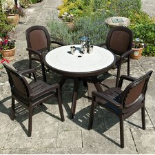 Toscana 100cm Ravenna Table with Beta Chairs in Coffee