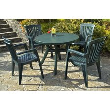 Toscana 100cm Plain Table with Optional Flora Chairs in Green