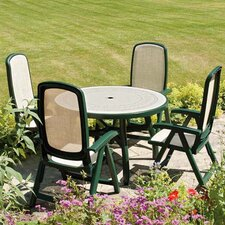 Toscana 5 Piece Round Ravenna Dining Set with Delta Chair