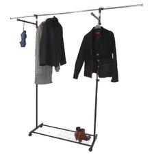 Luxus-Kleiderwagen auszieh- und höhenverstellbar mit Seitenhänger und Schuhablage