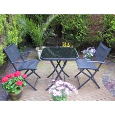 Nevada Bistro 3 Piece Square Dining Set