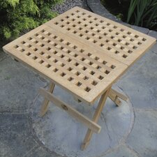 Square Teak Chess Table