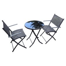 Braga 3 Piece Bistro Set