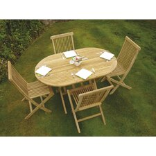 Oregon 5 Piece Oval Dining Set