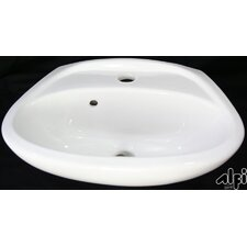 <strong>Alfi Brand</strong> Small Wall Mount Bathroom Sink with Overflow