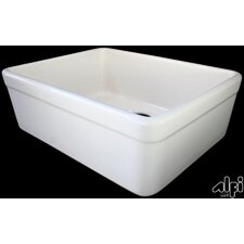 "26"" x 20.25"" Single Bowl Fireclay Farmhouse Kitchen Sink"