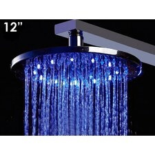 "12"" Multi Color LED Rain Shower Head"