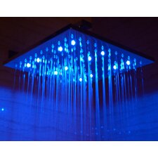 "12"" Square LED Rain Shower Head"