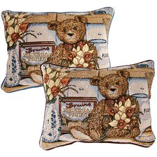 <strong>American Mills</strong> Teddy Bear Pillow (Set of 2)