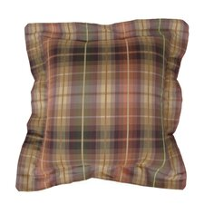 Purple Plaid Pillow (Set of 2)